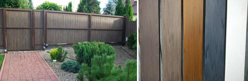 Забор из пластикового штакетника – фото