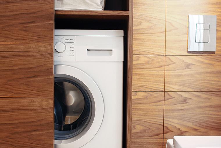 Фото. Шкаф в ванную комнату для стиральной машины