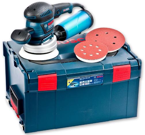 Эксцентриковая шлифовальная машина Bosch 400W GEX 125-150 AVE