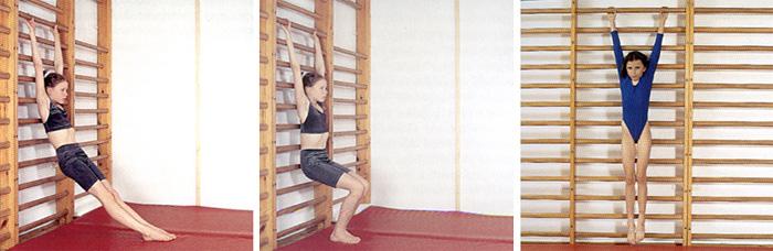 Упражнения на шведской стенке
