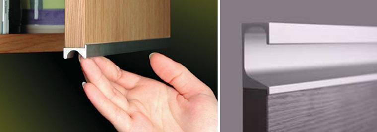 Ручки профильные для кухонных фасадов
