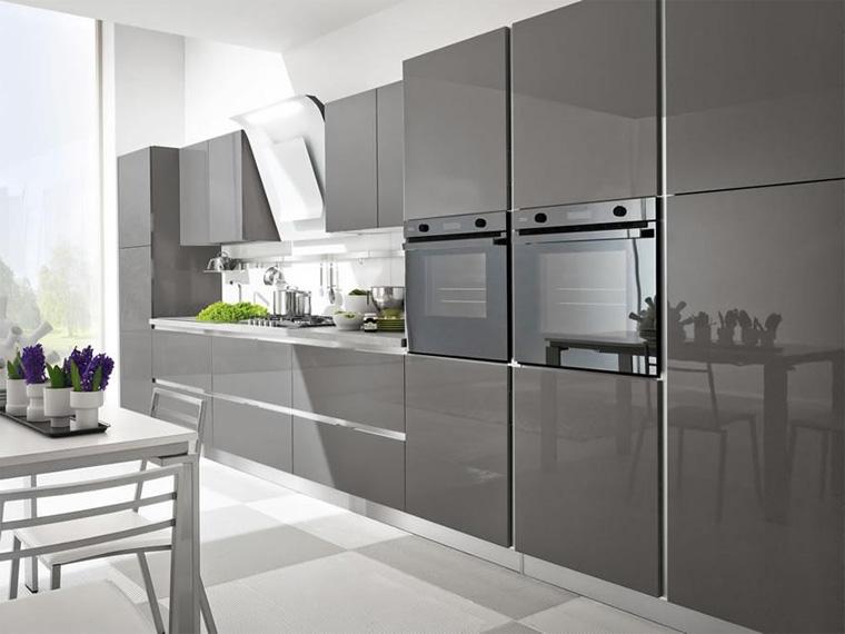 Кухонные фасады без ручек Tip on