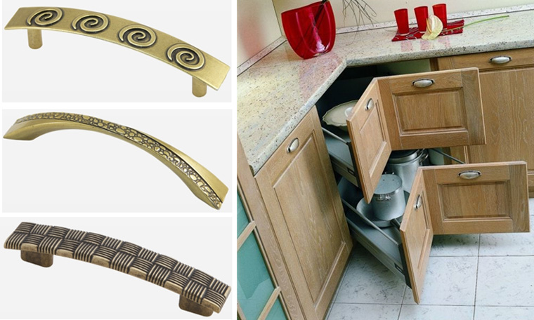 Ретро-ручки для фасадов кухни