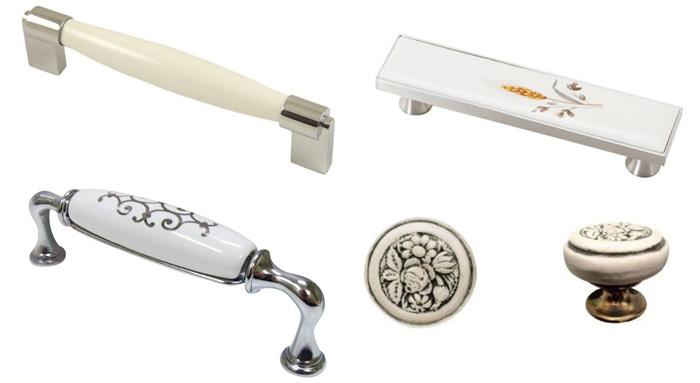 Мебельные ручки из фарфора