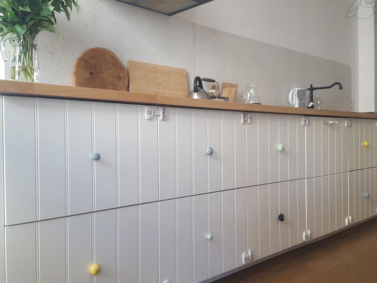 Ручки на кухонные фасады, фото