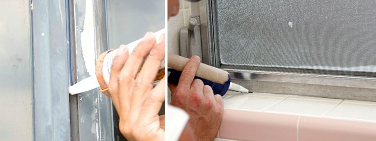 Зазоры между рамой и стеклом, наличником и стеной