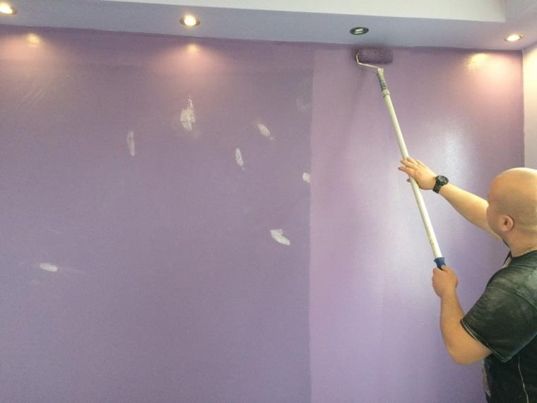 Фото. Покрытие стен керамической краской