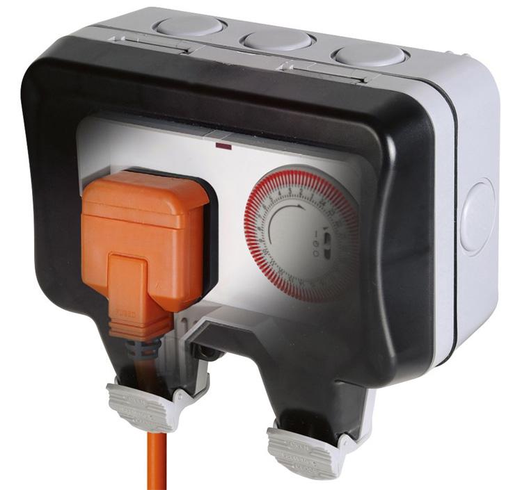 розетка-таймер для условий с повышенной влажностью