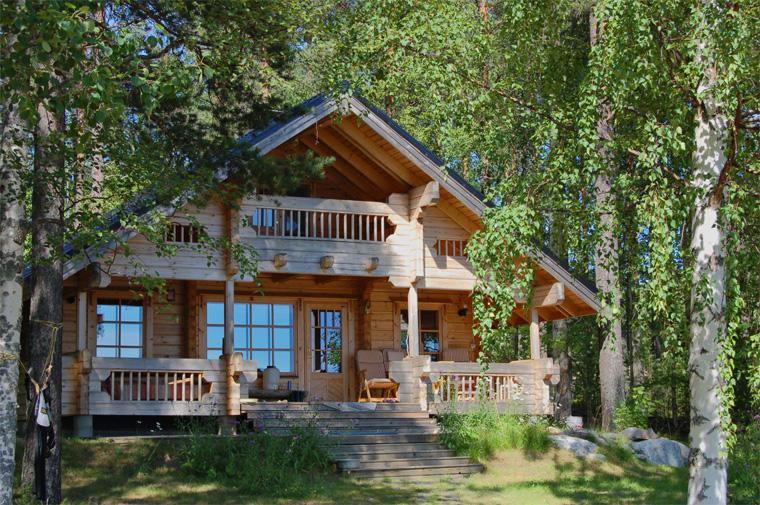 Фото. Деревянные дома, находящиеся в тесном контакте с природой, являются финским способом достижения умиротворения