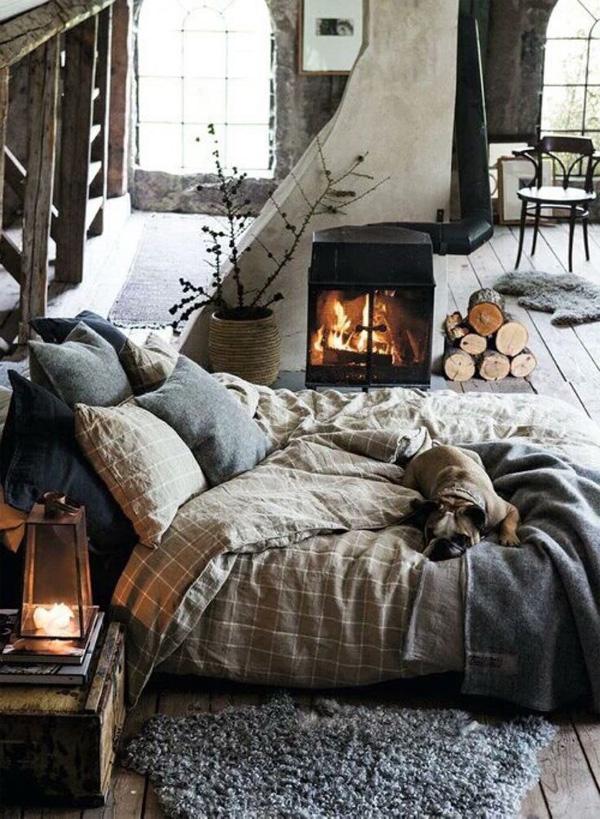 Фото. В финских домиках появляются натуральные материалы – льняное белье и льняно-шерстяное одеяло