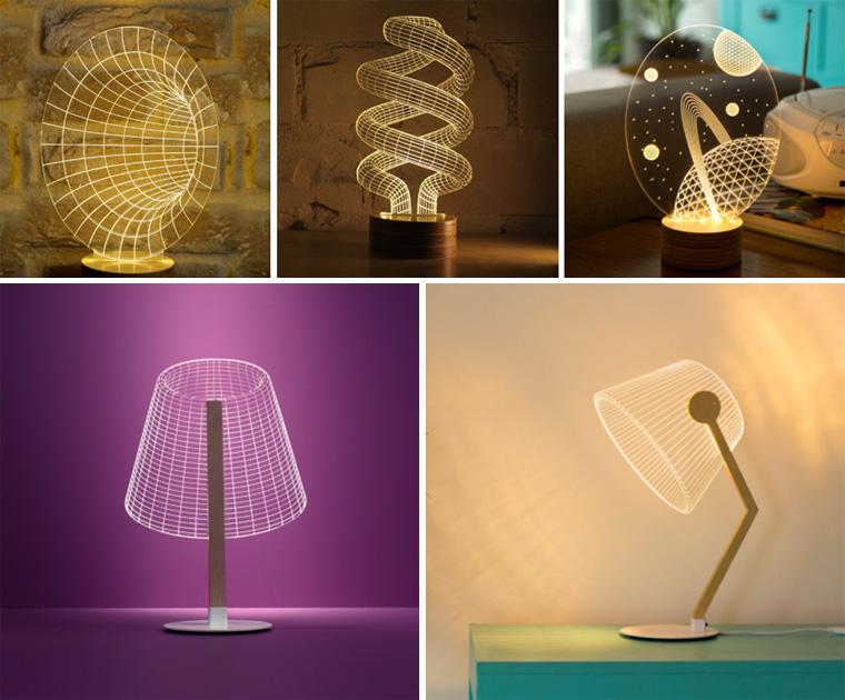 Декоративные лампы и иллюзии в освещении