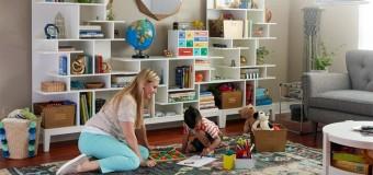 Детский стеллаж для книг и игрушек, с ящиками, как сделать своими руками, фото