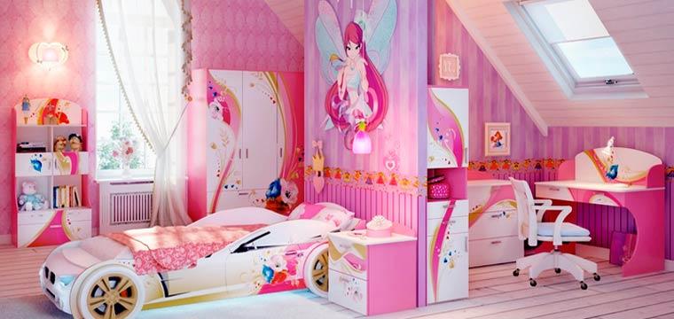 Детская комната на мансарде дизайн, как расставить мебель в комнате с ребенком