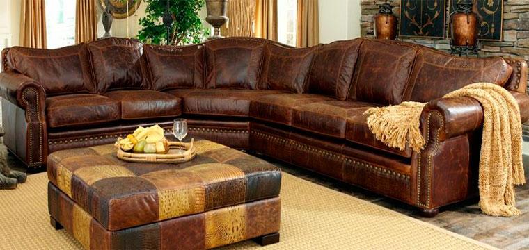 Натуральные и искусственные кожаные диваны угловые