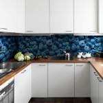 Дешевый фартук для кухни можно сделать из плиты МДФ