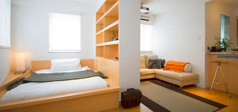 Комната 18 кв м зонирование спальни гостиной