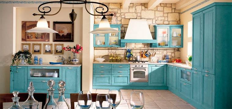 кухня гостиная прованс
