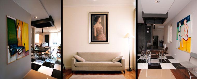 Декорирование стены картинами