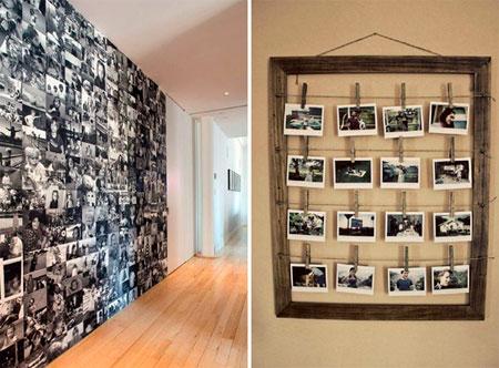 Коллекция фотографий, часы из фотографий на стену