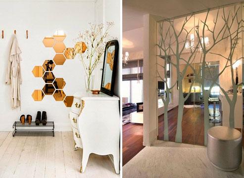 Как украсить пустую стену в спальне – поможет зеркало