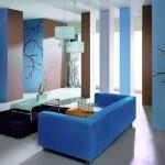Сочетание цветов с голубым в интерьере