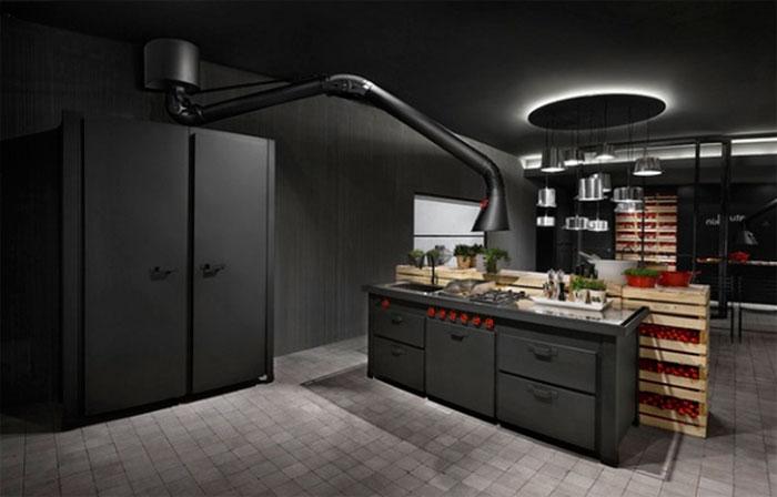 Индустриальный стиль на кухне