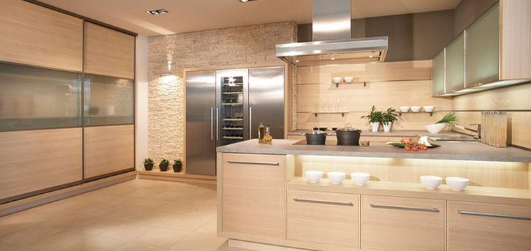 Бежевая кухня, какие обои выбрать, бежевые обои для кухни