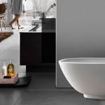 Большая плитка в ванную комнату – модный дизайн
