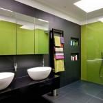Зеленый в ванной комнате