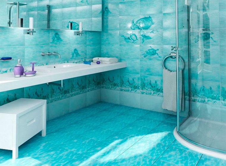 Цвета морского стиля – глубокий синий и свежий белый