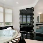 дизайн ванной комнаты в черно-белом тоне