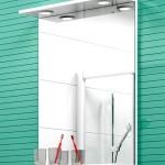 Зеркало с полками для ванной комнаты