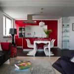 Дизайн кухни в красном цвете