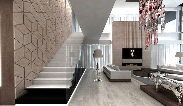 Современные лестницы в интерьере дома