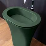 Напольная раковина для ванной из керамики
