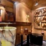 Напольная раковина для ванной из натурального камня