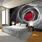 Современный дизайн обоев для спальни - фото