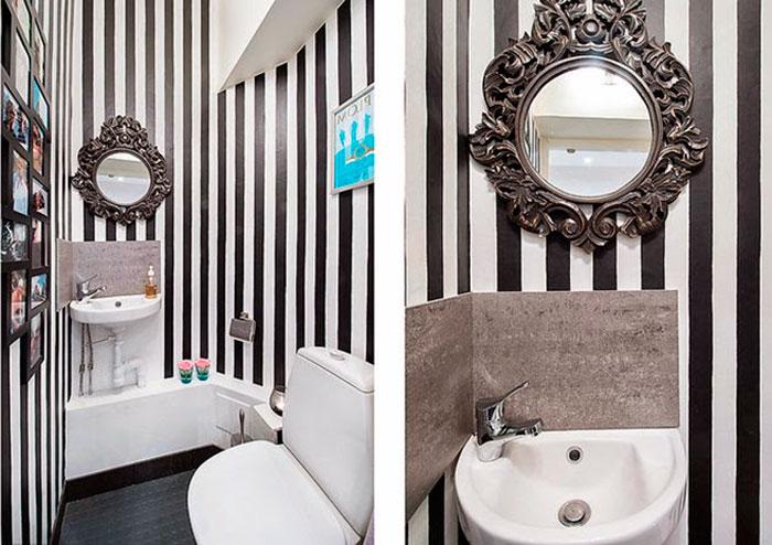 Узорная керамическая плитка для маленькой ванной комнаты