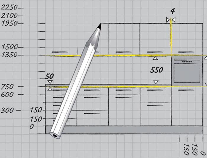 Глубина и ширина шкафов кухни