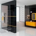 Стеклянная плитка для стен ванной комнаты