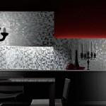 Стеклянная мозаика на фартуке кухни