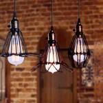 Большие потолочные люстры и подвесные светильники в стиле лофт