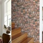 Обои, имитирующие камень и кирпич