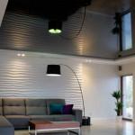 Черный цвет натяжного потолка