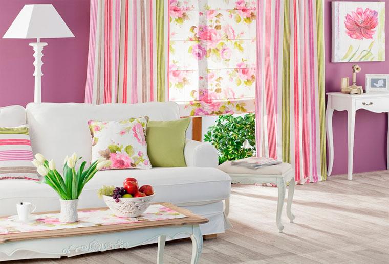 Сочетание цветов штор и обоев в интерьере