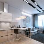 Интерьеры однокомнатных квартир в современном стиле - фото