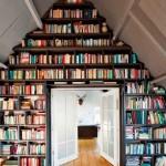 Стеллаж для книг в интерьере