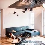 Черный потолок в интерьере – варианты исполнения