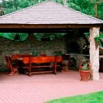 Летняя кухня на даче с мангалом, фото