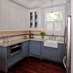 Угловые кухонные гарнитуры для маленькой кухни – фото